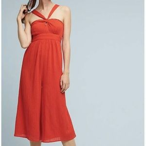 Anthro Maeve Proust cropped jumpsuit